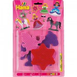 Plaques pour perles à repasser Hama Midi : Princesse/Etoile/Cheval