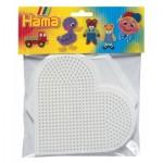 Plaques pour perles à repasser Hama Midi : Coeur/Hexagonale