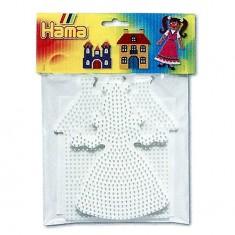 Plaques pour perles à repasser Hama Midi : Princesse/Maison