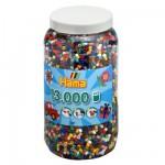 Pot de 13000 perles Hama Midi : 22 couleurs