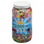 Pot de 13000 perles Hama Midi : 6 couleurs transparentes pailletées
