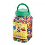 Pot de 2300 perles Hama Maxi : Perles Mix 7 couleurs