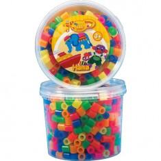 Pot de 600 perles Hama Maxi : Perles Mix 6 couleurs