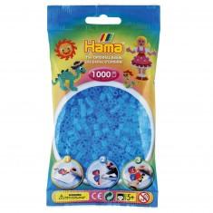Sachet de 1000 perles Hama Midi : Bleu transparent