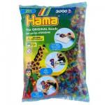 Sachet de 3000 perles Hama Midi : Transparent