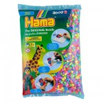 Sachet de perles Hama Midi : Pastel mixte