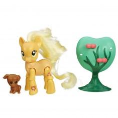 Figurine articulée My Little Pony : Applejack cueillette de pommes