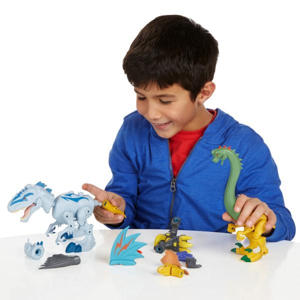 Figurine Jurassic World : Hero Mashers : Indominus Rex vs Velociraptor - Hasbro-B1388