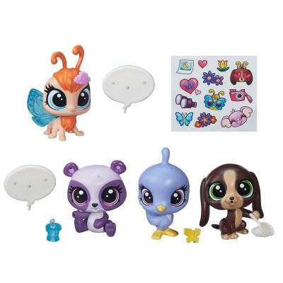 Figurine petshop coffret 5 figurines chasse aux papillons jeux et jouets hasbro avenue - Petshop papillon ...