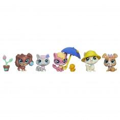 Figurine Petshop : Coffret 5 figurines : Sortie sous la pluie