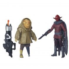 Figurine Star Wars : Duo de figurines avec accessoires : Sidon Ithano et Quiggold