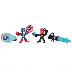 Figurine Super Hero Mashers Micro : Mini figurines Avengers : Captain America vs Crâne Rouge