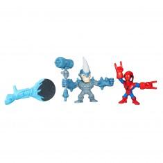 Figurine Super Hero Mashers Micro : Mini figurines Avengers : Spider-Man vs Rhino