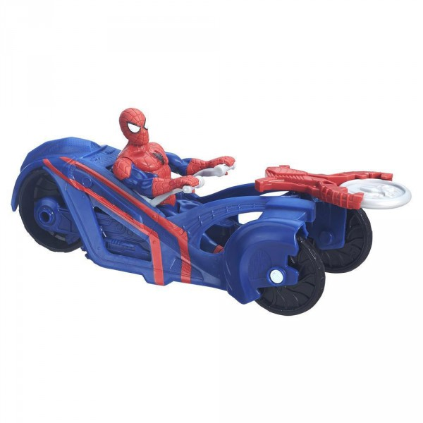 Figurine ultimate spiderman spiderman et sa moto jeux - Jeux spiderman moto ...