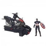 Figurines Avengers Age of Ultron : Catain America et Marvel's War Machine avec lance-moto