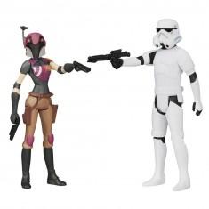 Figurines Star Wars Rebels : Rebel Wren & Stormtrooper