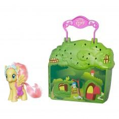 Mallette de jeu et figurine My Little Pony : Fluttershy et sa maisonnette