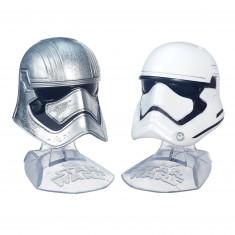 Mini casques Star Wars : The Black Series : Capitaine Phasma et Stormtrooper