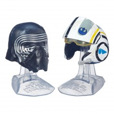 Mini casques Star Wars : The Black Series : Kylo Ren et Poe Dameron