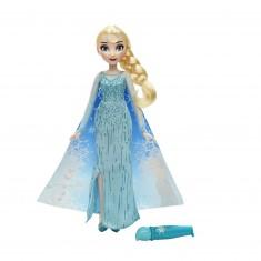 Poupée La Reine des Neiges (Frozen) : Elsa cape féérique