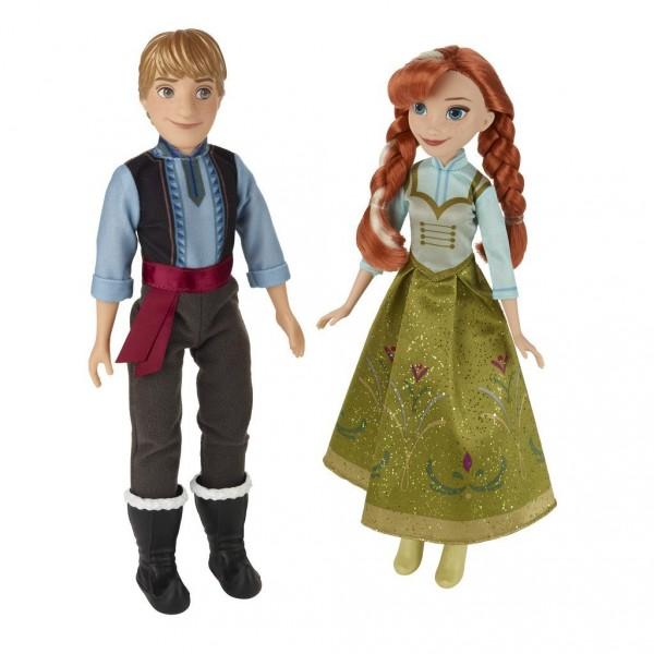 Poupées La Reine des Neiges (Frozen) : Coffret duo Anna et Kristoff - Hasbro-B5168