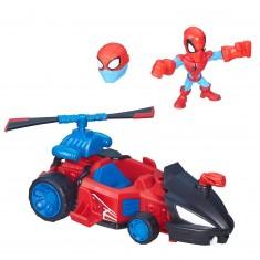 Véhicule et micro figurine Marvel Super Hero Mashers : Speeder de Spiderman