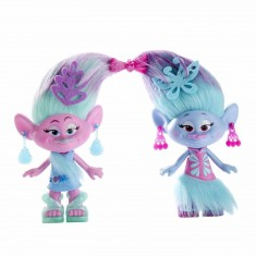 Set de 2 figurines Trolls 22 cm
