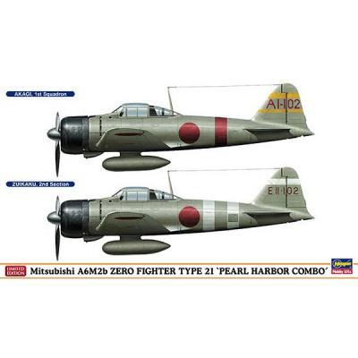 Maquettes avions: A6M2b Zero Pearl Harbor Combo - Hasegawa-01942