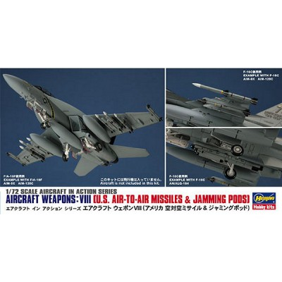 Accessoires militaires : Armement avion 1/72 : Aircraft Weapons VIII - Hasegawa-35113