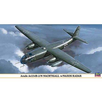 Maquette avion: Arado Ar234B-2/N Nachtigall w/ Naxos Radar - Hasegawa-09820