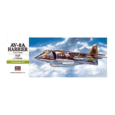 Maquette avion: B10 AV-8A Harrier  - Hasegawa-00240