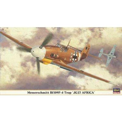 Maquette avion: Messerschmitt BF109F-4 TROP JG 27 AFRICA1 - Hasegawa-09804