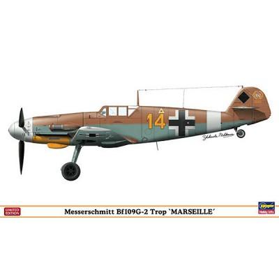 Maquette avion: Messerschmitt Bf109G-2 Trop Marseille - Hasegawa-09952