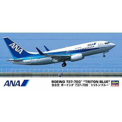 Maquette avion : Boeing ANA B737-700  TRITON BLUE Modern Jet Airliner ANA  - Hasegawa-10669