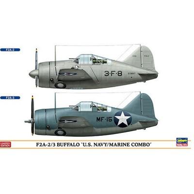 Maquettes avions: F2A-2/3 Buffalo US Navy/Marine Combo: 2 modèles - Hasegawa-01974