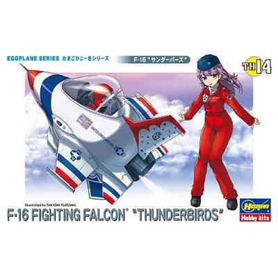 Maquette avion: Egg Plane : F-16 Fighting Falcon Thunderbirds - Hasegawa-60124