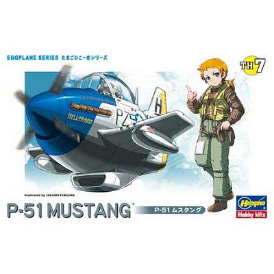 Maquette avion: Egg Plane : P-51 Mustang  - Hasegawa-60117