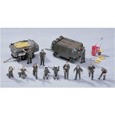 Accessoires militaires: Armement avion 1/48: Equipe au sol US - Hasegawa-36104-36004