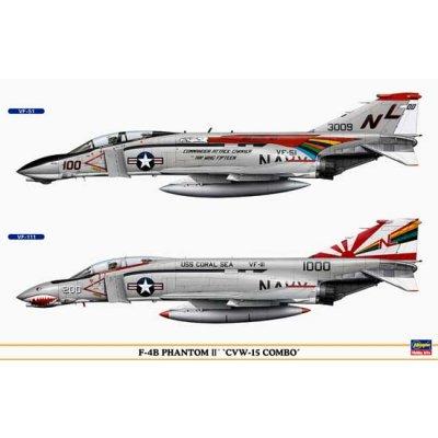 Maquettes avions: F-4B Phantom II CVW-15 Combo  - Hasegawa-00956