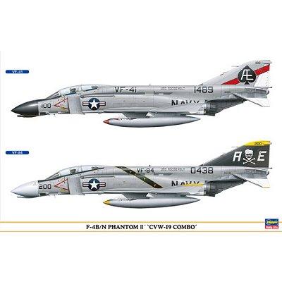 Maquettes avions: F-4B/N Phantom II CVW-19 Combo - Hasegawa-00942