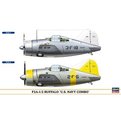 Maquettes avions: F2A-1/2 Buffalo US Navy Combo: 2 modèles - Hasegawa-00968
