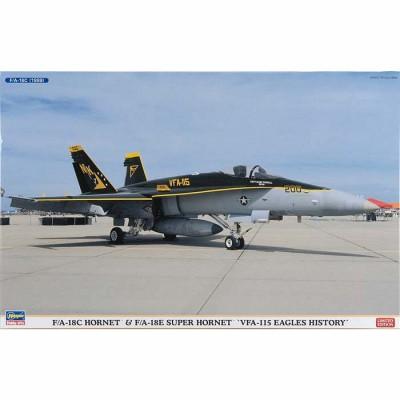 Maquettes avions: F/A-18 C Hornet et F/A-18E Super Hornet VGA -115 Eagles History - Hasegawa-01912
