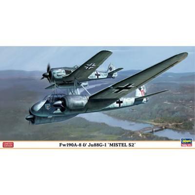 Maquettes avions: FW190A-8 et Ju88G-1 Mistel S2 - Hasegawa-01975