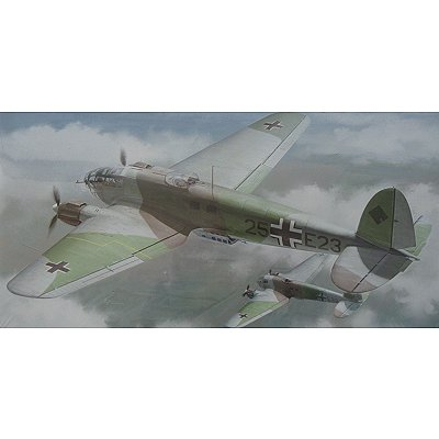 Maquette avion : Heinkel He111P Old Camouflage - Hasegawa-00847