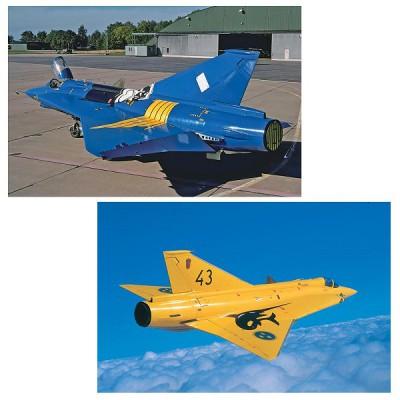 Maquettes avions: J35J Draken