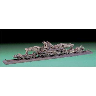 Maquette Canon: Mörser Karl on Railway Carrier  - Hasegawa-31032