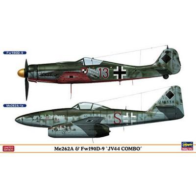 Maquettes avions: Me262A & Fw190D-9 JV44 Combo: 2 modèles - Hasegawa-01952