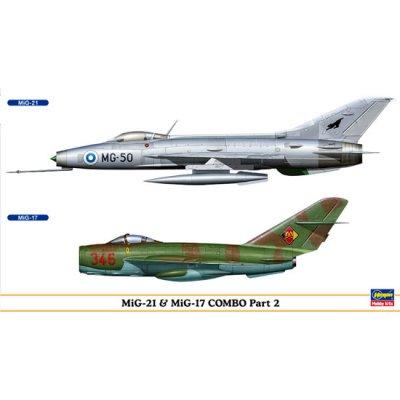 Maquettes avions: MiG-21 et MiG-17 Combo - Hasegawa-00950