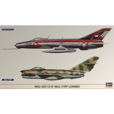 Maquette avion: MIG 21F & MIG 17F Combo - Hasegawa-00904