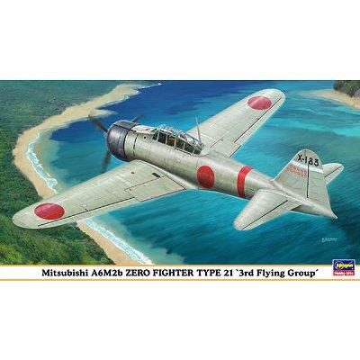 Maquette avion: Mitsubishi A6M2b Zero Fighter - Hasegawa-09875